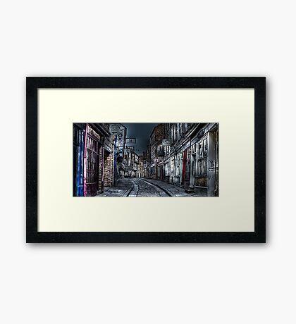 Night in the Shambles York Framed Print