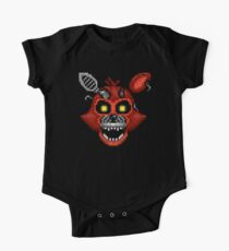 Adventure Nightmare Foxy - FNAF World - Pixel Art One Piece - Short Sleeve