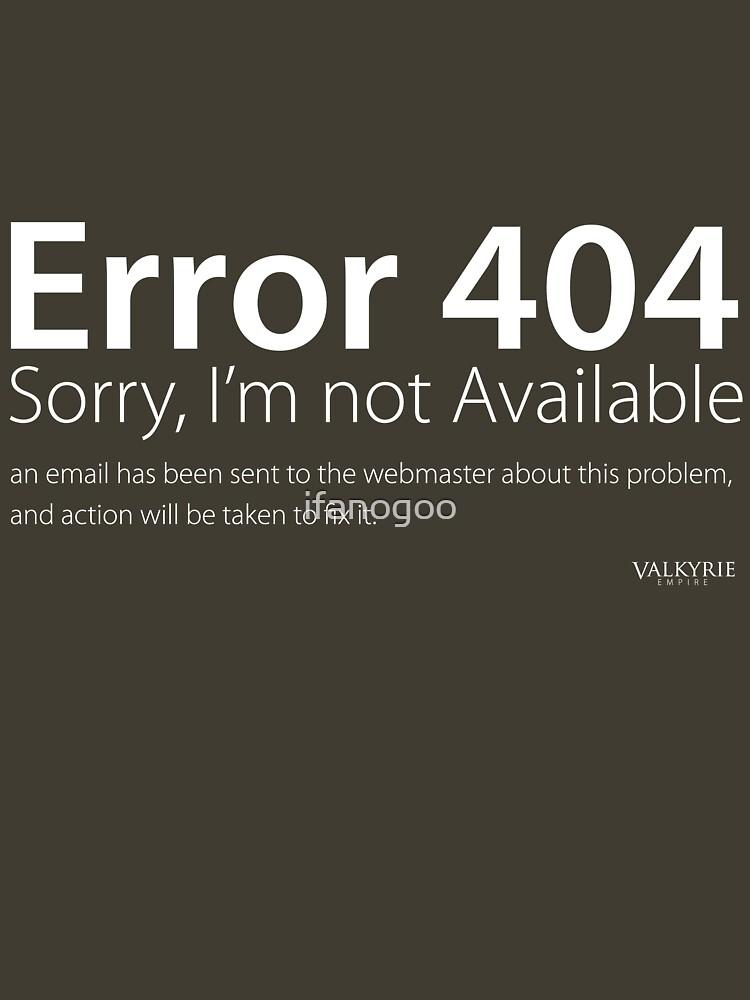 404 Error by ifanogoo