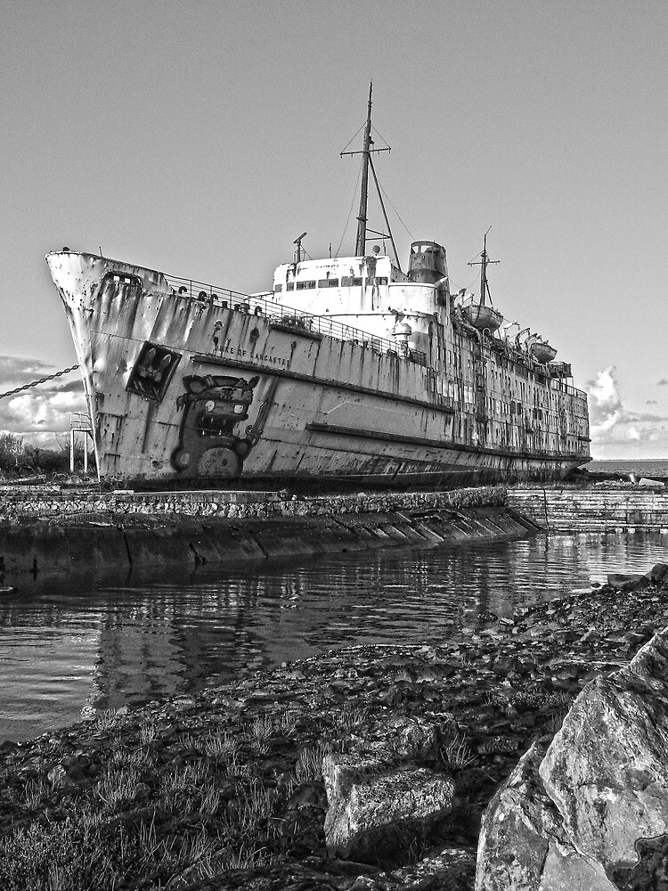 Duke of Lancaster in B&W by DavidWHughes