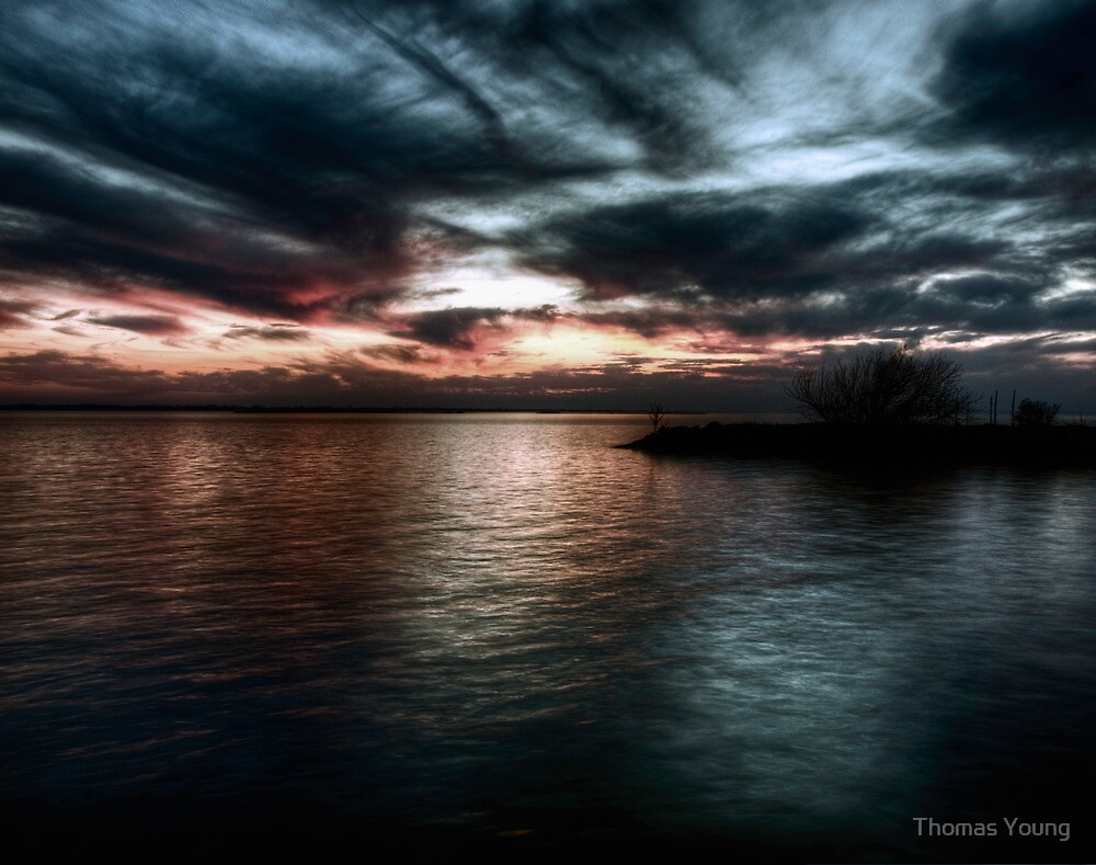 Sunset on Lake Poygan 3 by Thomas Young