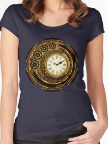 Steampunk Time Machine Women's Fitted Scoop T-Shirt