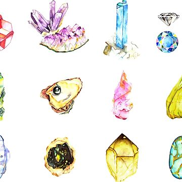 Watercolor Birthstones by sadiesavesit