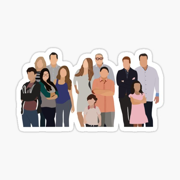 Modern Family cast Sticker