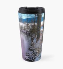 Quiet river in winter time Travel Mug
