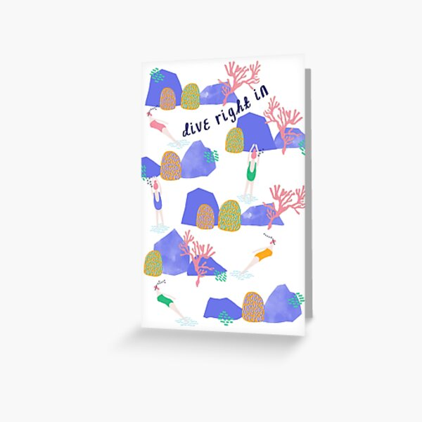 Dive Right In Card  Greeting Card