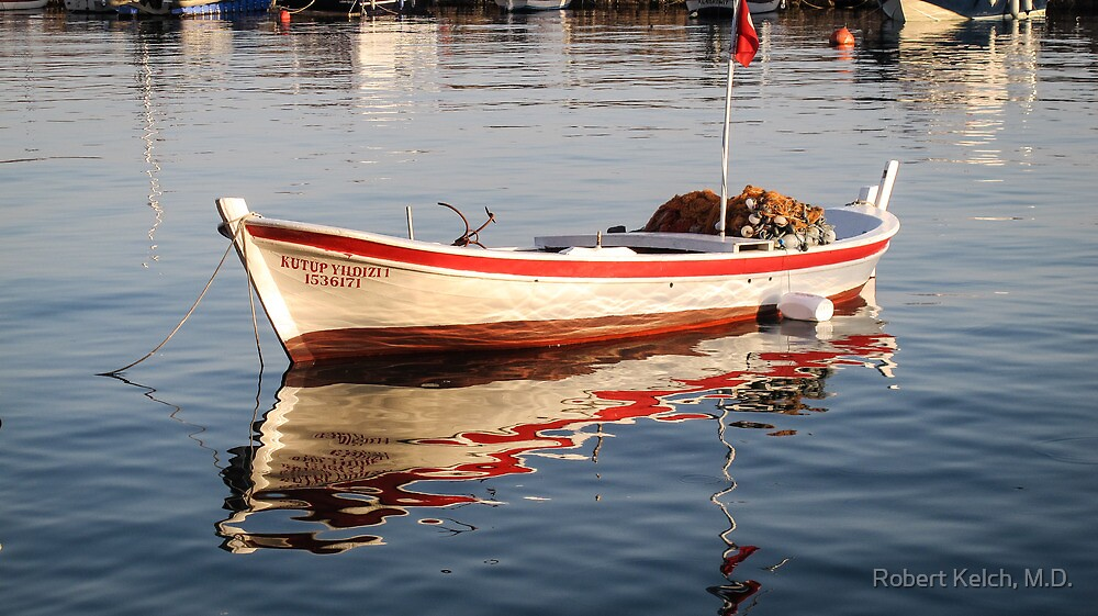 Fishing Boat in Assos Harbor by Robert Kelch, M.D.