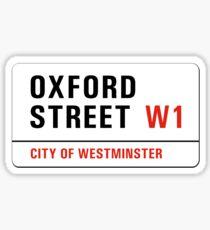 Oxford Street, London Straßenschild, Großbritannien Sticker
