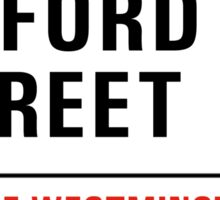 Oxford Street, London Street Sign, UK Sticker