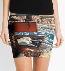 View into winter scenery Mini Skirt