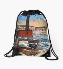 View into winter scenery Drawstring Bag