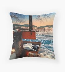 View into winter scenery Throw Pillow