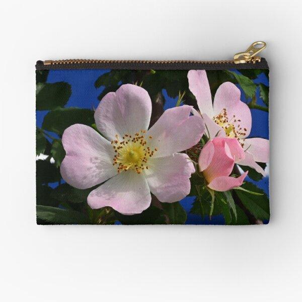 Elegance of dog rose Zipper Pouch