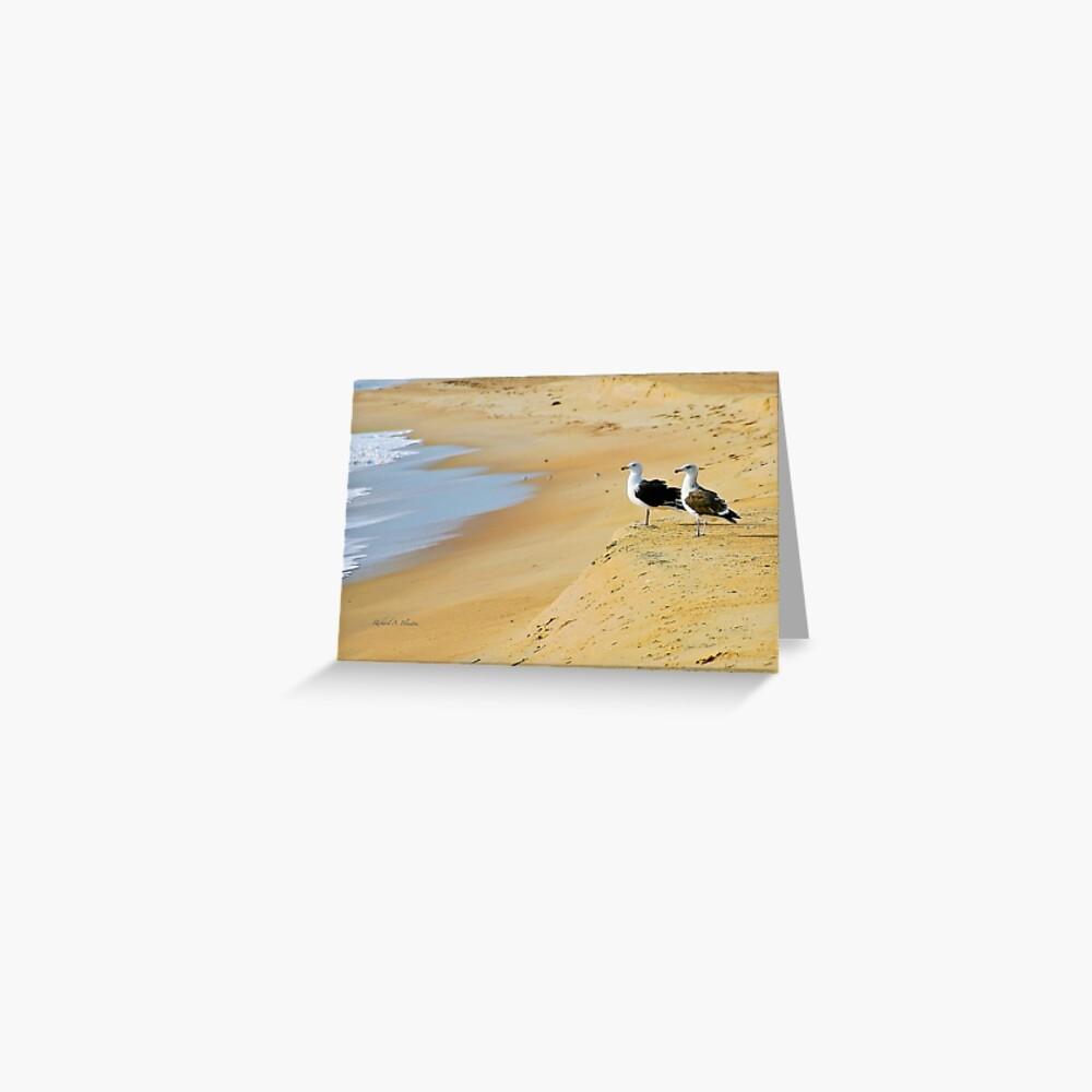 Beach goers  Greeting Card