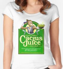 Master Sokka's Cactus Juice Women's Fitted Scoop T-Shirt