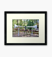 ' YOU DON'T HAVE TO SHOUT ' Framed Print