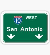 San Antonio, TX Road Sign, USA Sticker