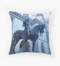 Knight at Pierrefonds, Throw Pillow