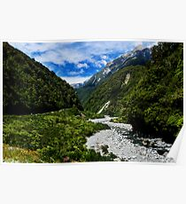Otira River in Arthurs Pass Poster
