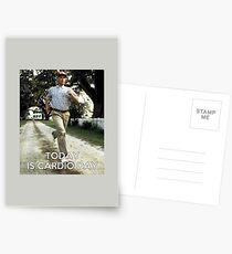 Today is cardio day Forrest Gump runs Postcards