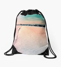 The field and the village Drawstring Bag