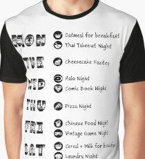 TBBT - Sheldons Wochenplan Grafik T-Shirt