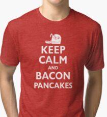 Keep Calm and Bacon Pancakes Tri-blend T-Shirt