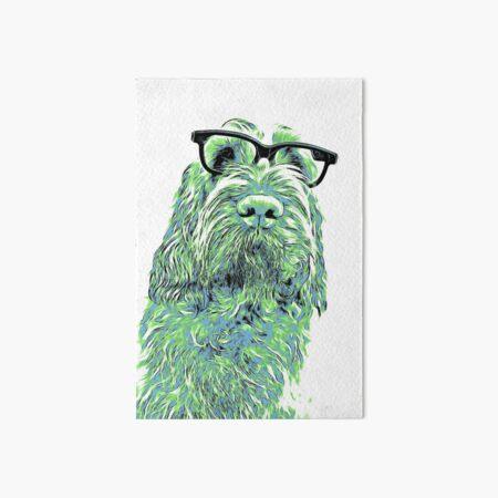 Intelligent friend Spinone abstract green Art Board Print