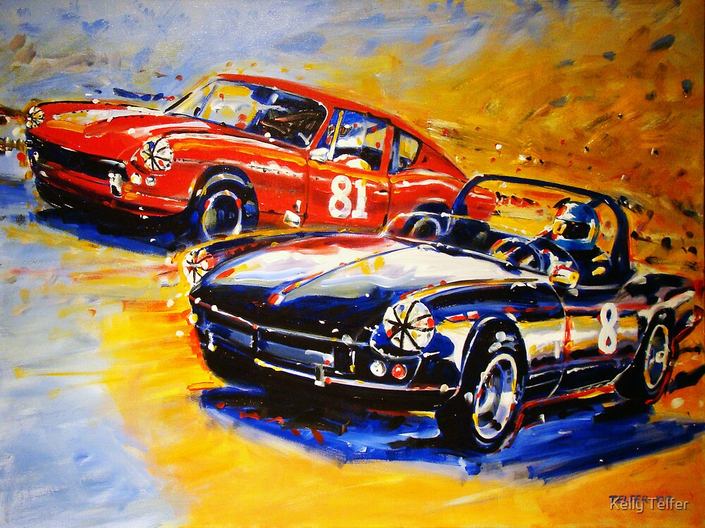 'Dodson Racing' Triumph Spitfire & GT6 Vintage Racing by Kelly Telfer