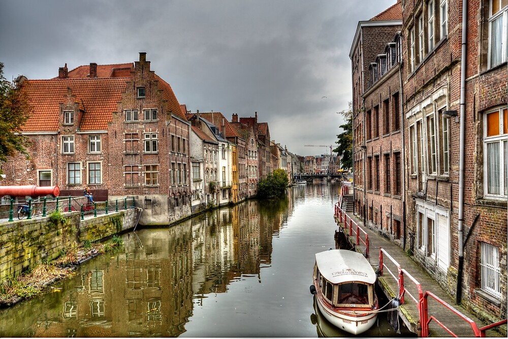 Ghent Canal by Terry  Berman