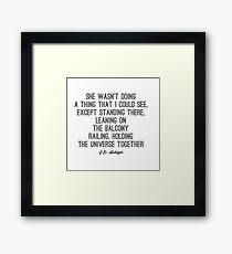 Favorite Salinger Quote Framed Print