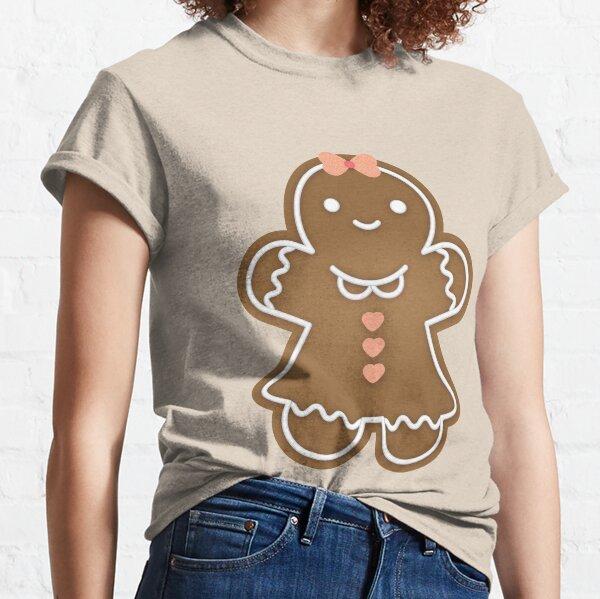 Gingerbread Girl Pattern - Brown Classic T-Shirt
