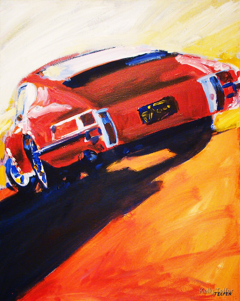 'Red Early 911' Porsche by Kelly Telfer