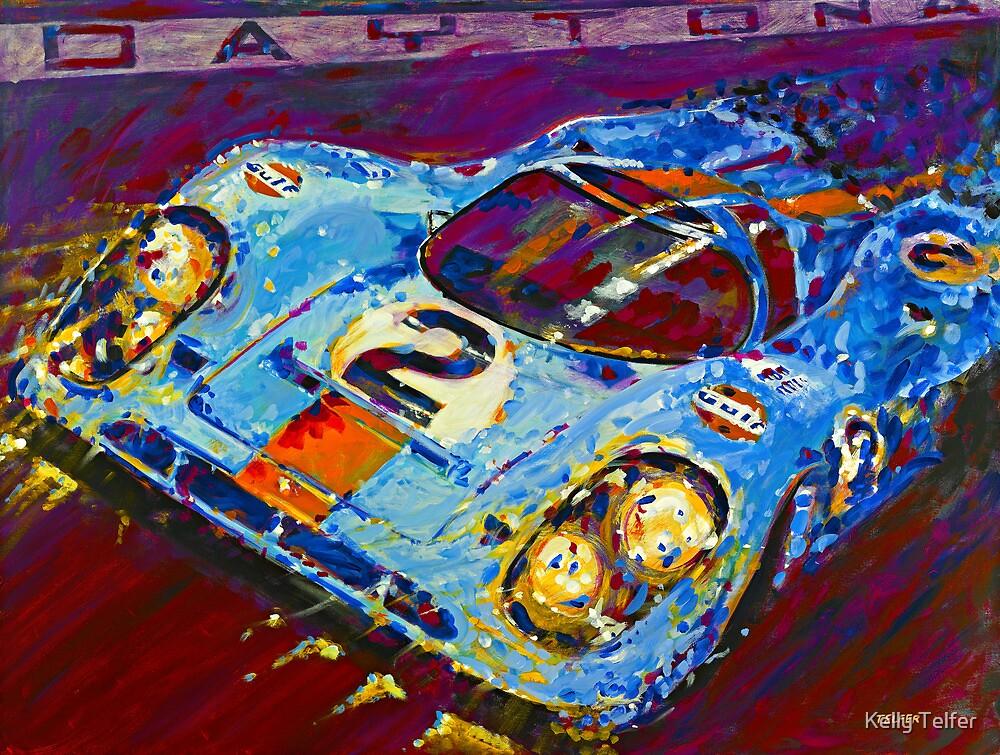 'Porsche Daytona Champion 917 at Night' Racing Porsche by Kelly Telfer