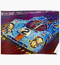 'Porsche Daytona Champion 917 at Night' Racing Porsche Poster