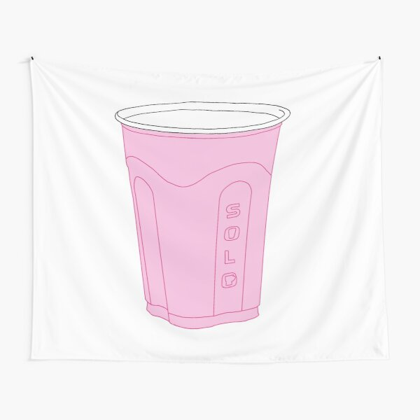 pink solo cup Tapestry