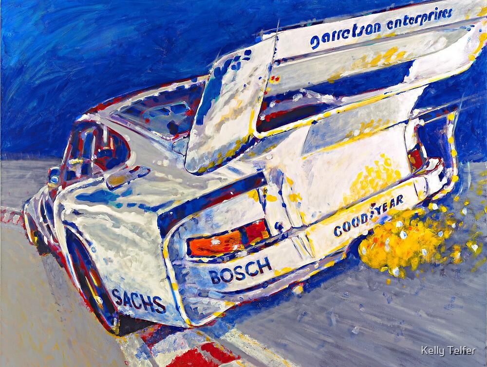 'Canepa Attacking the Corkscrew (935 Porsche)' Racing  by Kelly Telfer