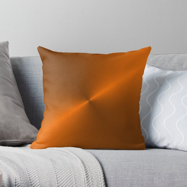 Brushed Copper Illustration Throw Pillow