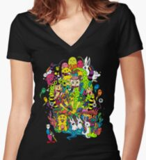 LSD Color Women's Fitted V-Neck T-Shirt