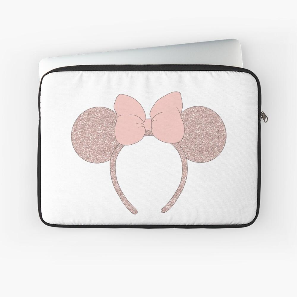Rose Gold Mouse Ear Headband Laptop Sleeve