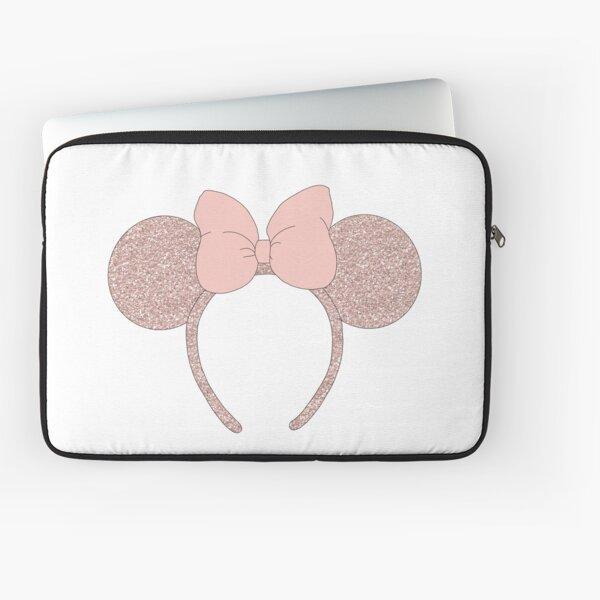 Diadema con oreja de ratón de oro rosa Funda para portátil