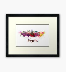 Bogota skyline in watercolor Framed Print