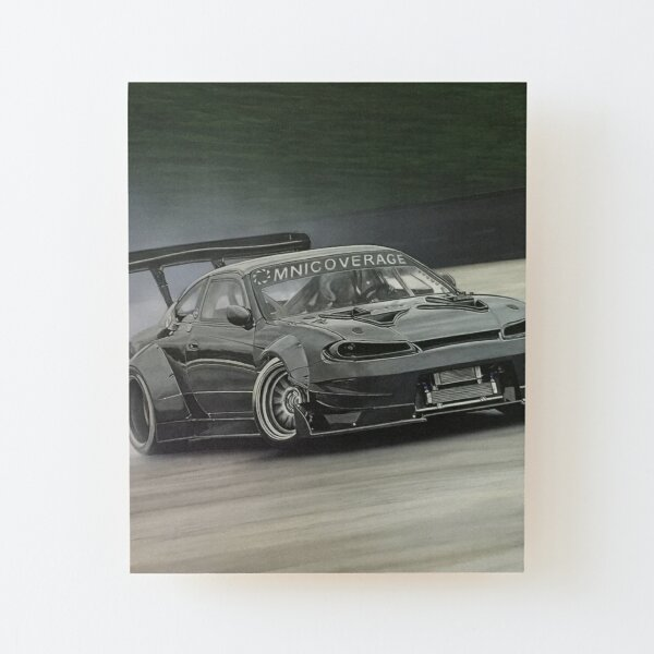 Drifting Car II Wood Mounted Print