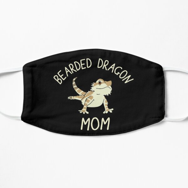 Cute Bearded Dragon Mom Flat Mask