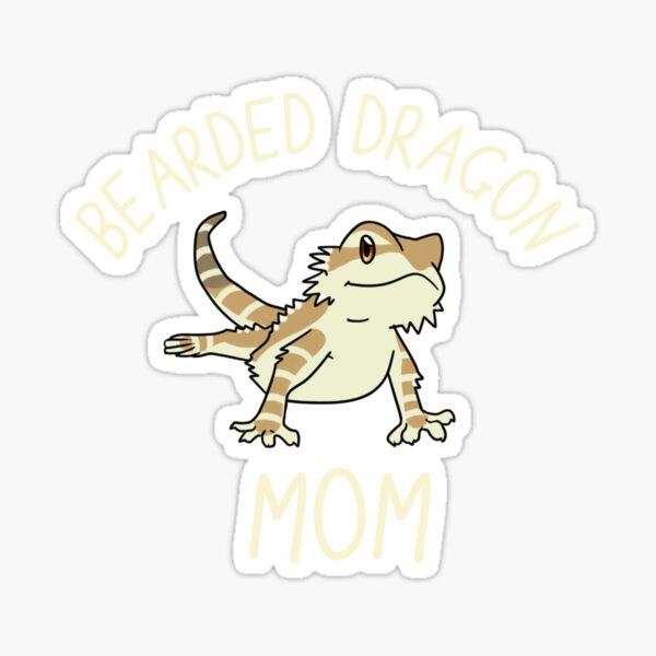 Cute Bearded Dragon Mom Sticker