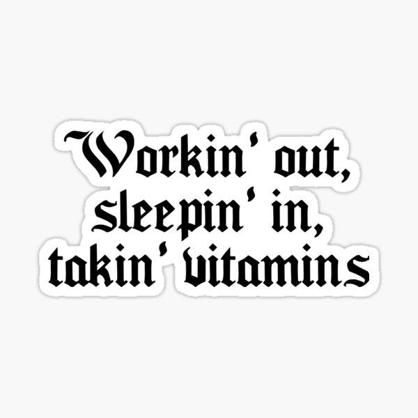 Vitamins Sticker