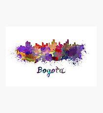 Bogota skyline in watercolor Photographic Print