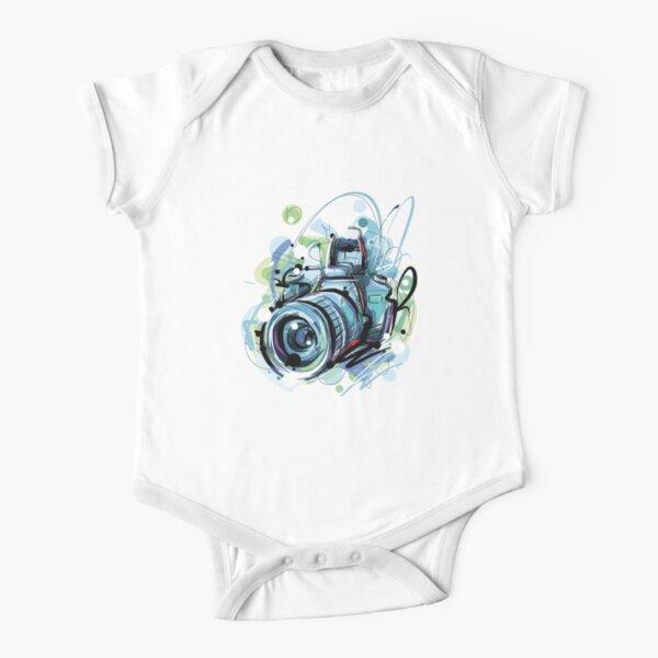 Camera Short Sleeve Baby One-Piece