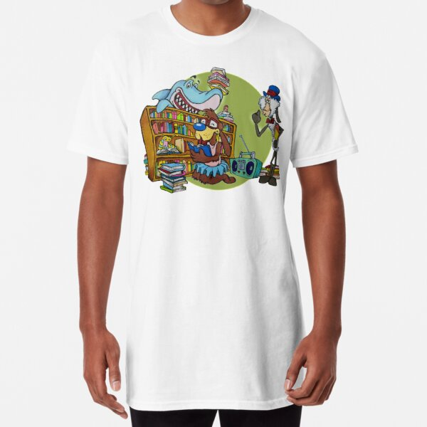 TonyToons Misbehaving at The Library Long T-Shirt