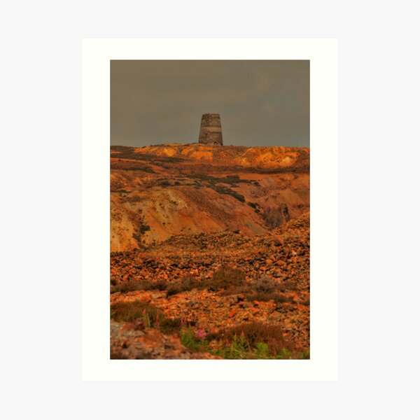Parys Mountain, Copper Mine, Amlwch, Anglesey, Wales Art Print